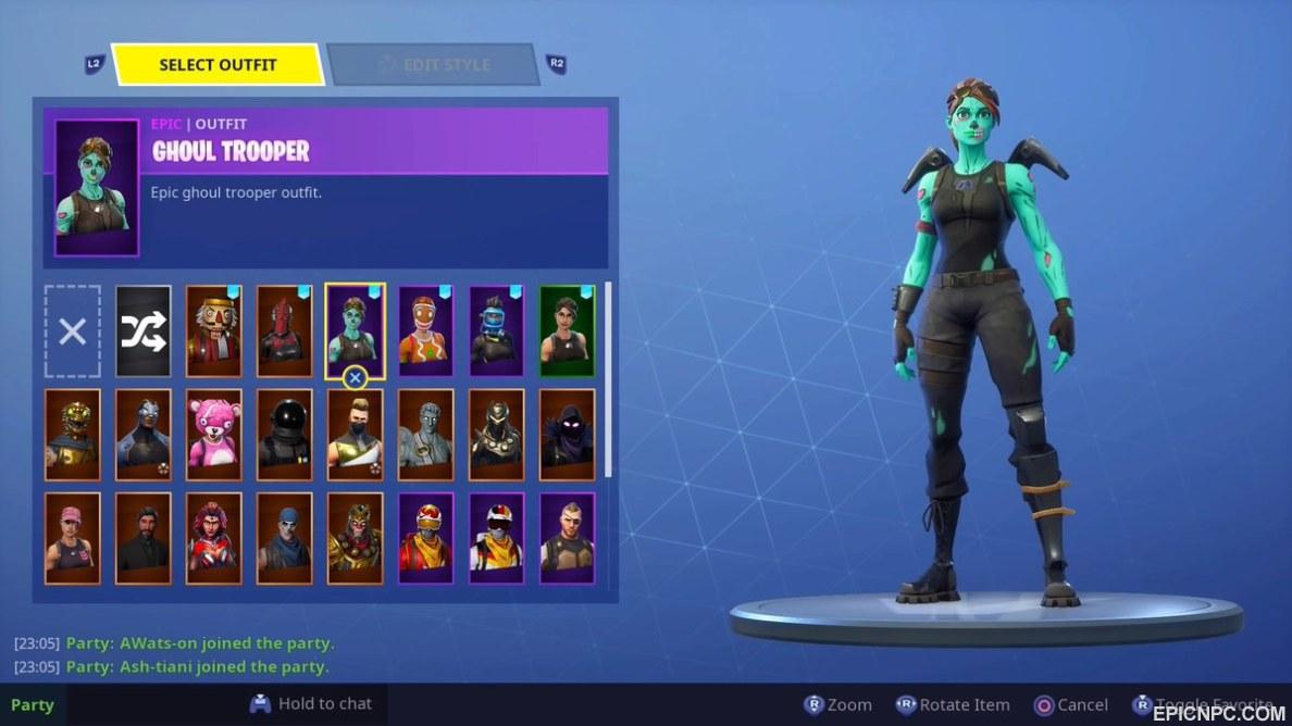 Selling Selling My Ghoul Trooper Ginger Gunner Scythe Account