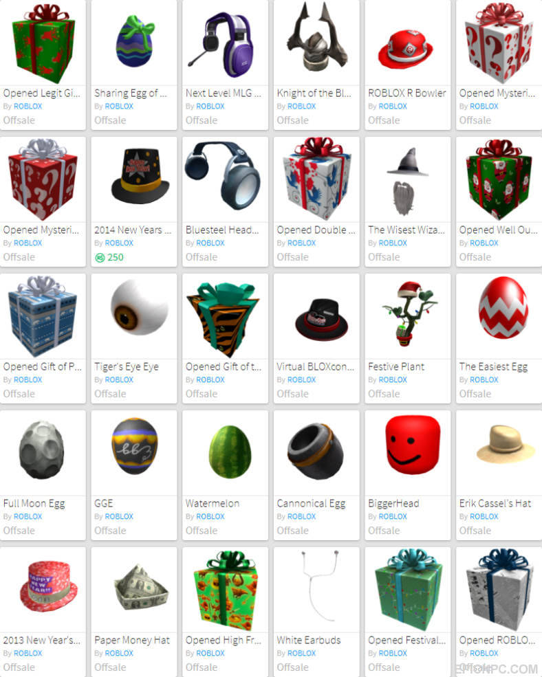 Selling Bc 2009 Roblox Account With Rare Offsale Items Epicnpc