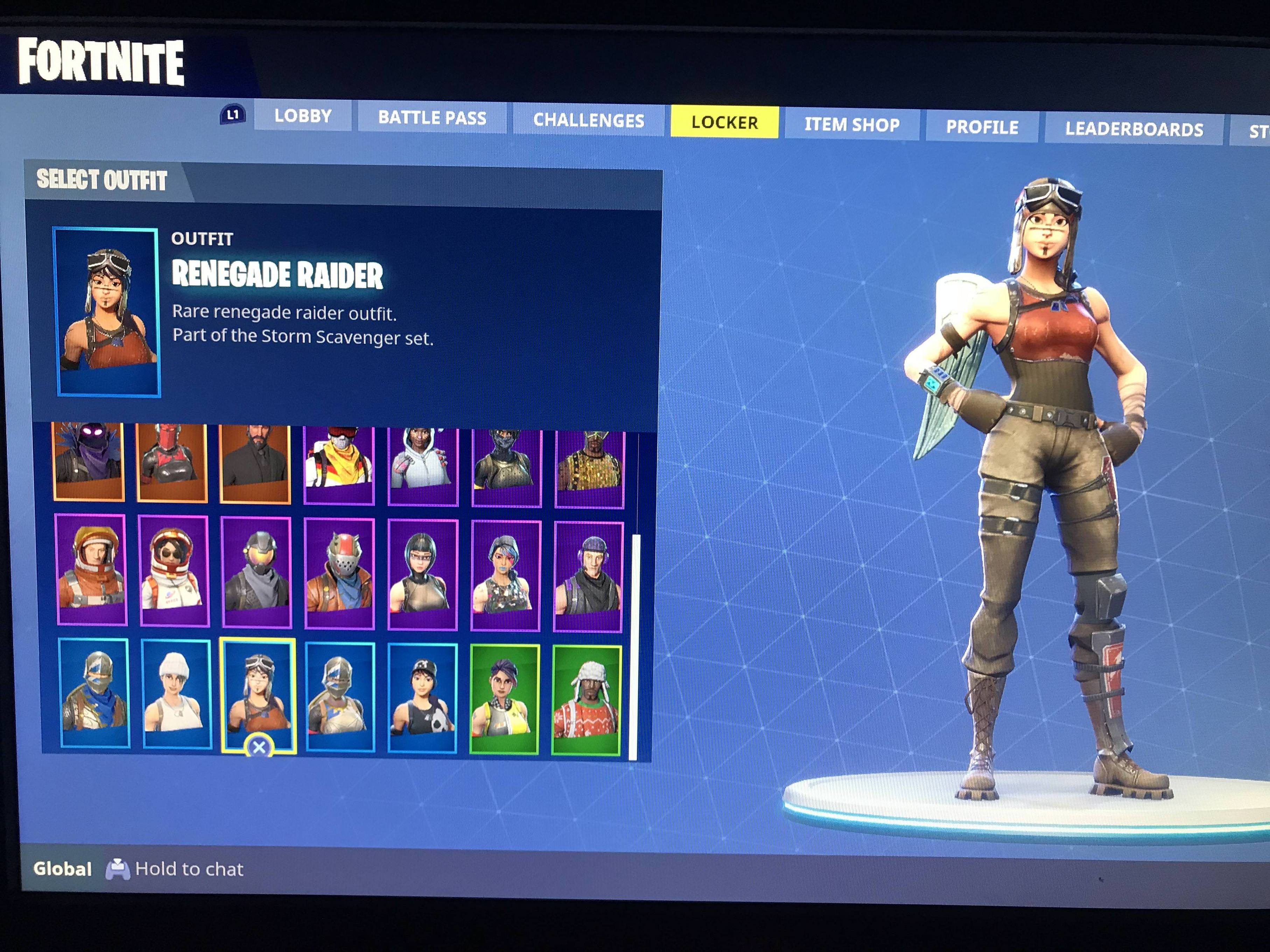Sold Selling Account Renegade Raider Christmas Skins Raven And