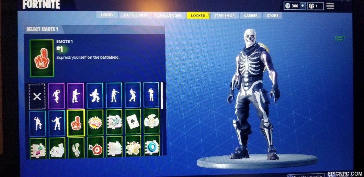 Very Rare Fortnite Account With Skull Trooper Dark Knight And Red
